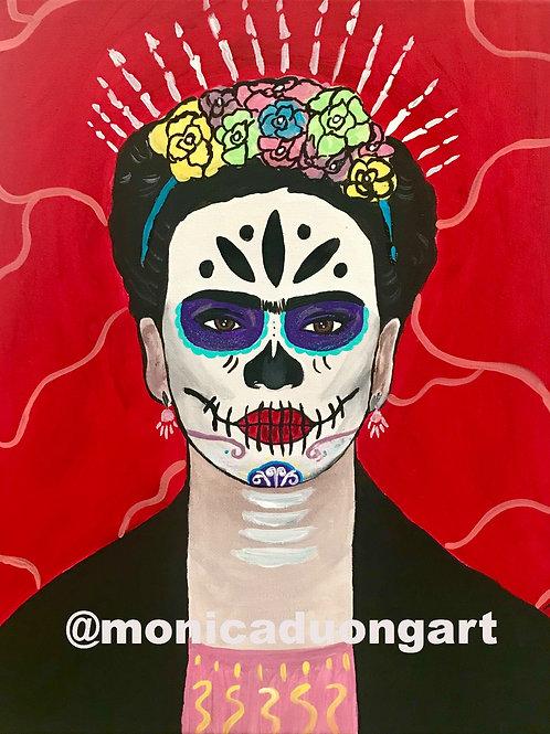 Viva Frida Kahlo 18' Dia de los Muertos Print