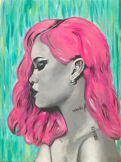 Rihanna Commission Painting