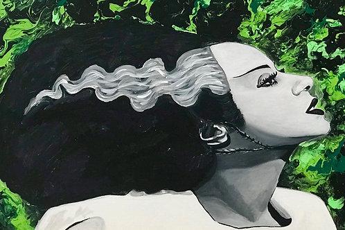 Bride of Frankie Original Painting