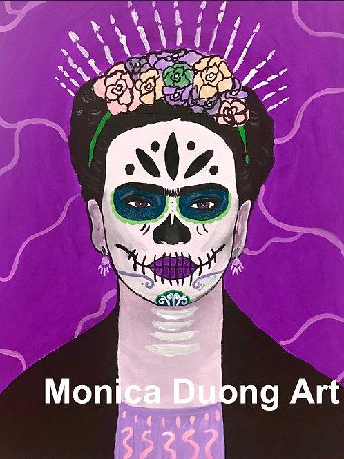 Viva Frida Print ( Purple )