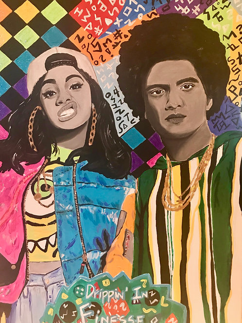 Drippin' in Finesse Original Painting