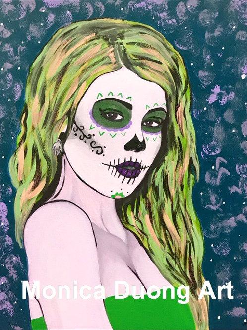 Sugar Girl (Green) Print