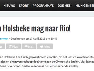 Seppe Van Holsbeke mag naar Rio!