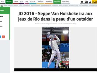 JO 2016 - Seppe Van Holsbeke ira aux jeux de Rio dans la peau d'un outsider