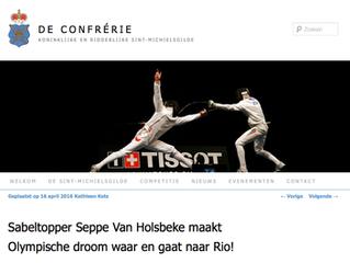 Sabeltopper Seppe Van Holsbeke maakt Olympische droom waar en gaat naar Rio!