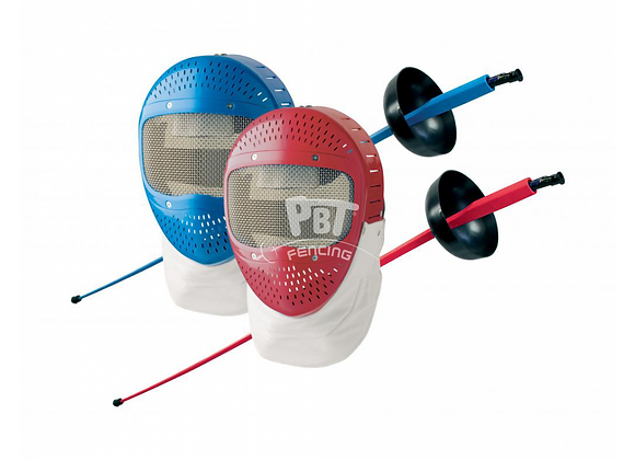 Plastiek set  1 masker + 1 wapen ( keuze soort wapen)