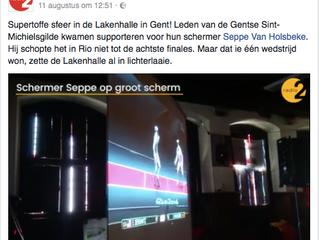 Super sfeer in de Lakenhalle in Gent!