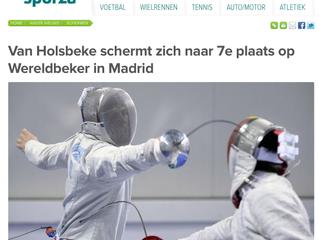 Van Holsbeke schermt zich naar 7e plaats op Wereldbeker in Madrid
