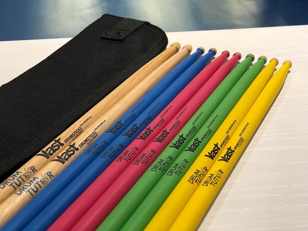 Sticks and drum stick bag