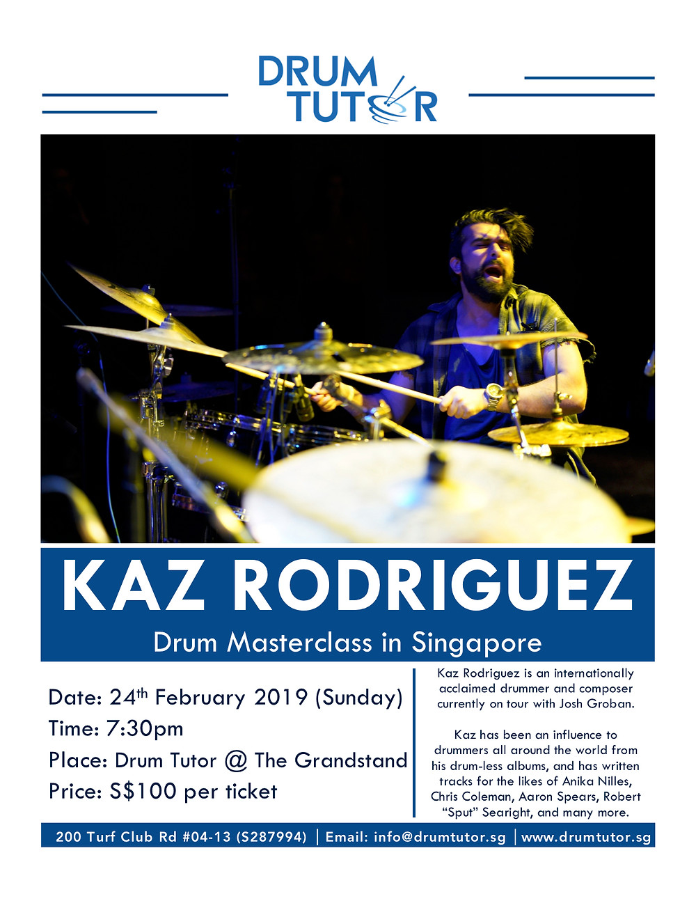 Kaz Rodriguez at Drum Tutor