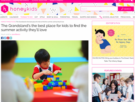 Write up by HoneyKids Asia on The Grandstand June Holiday Camp