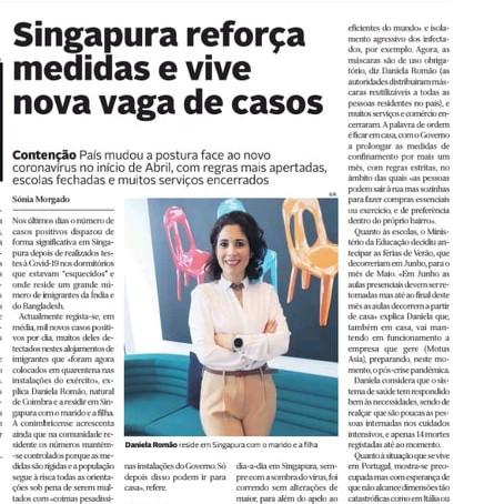 Interview with Diário de Coimbra, May 2020