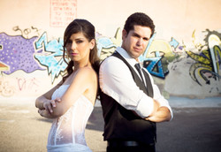 hip hop bride and groom