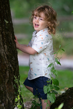 Kid and a tree