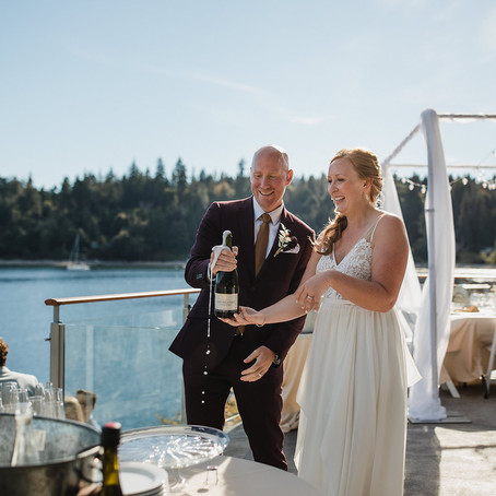 Kirsten and Courtney's Oceanfront Elopement at the Pointhouse on Sargeant Bay - Sunshine Coast, BC