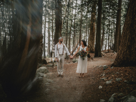 Sharon and Greg's PNW Beachfront & Forest Elopement - Baker's Beach, Sunshine Coast, BC