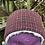 Thumbnail: Black, Red & Orange Check Winter Headband