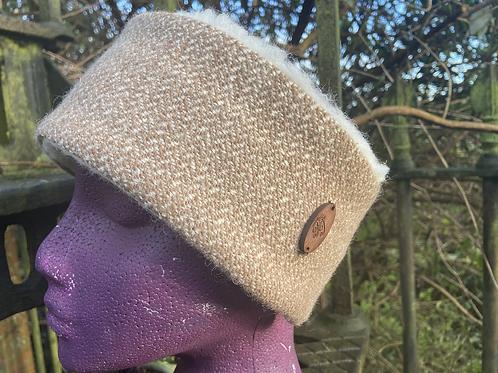 Neutral Toned Herringbone Winter Headband