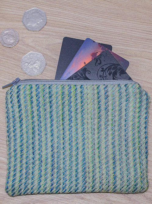 Turquoise Painty Zip Pouch
