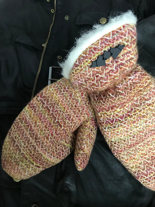 Autumnal Painty Mittens
