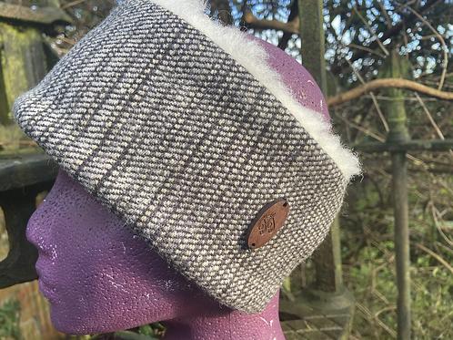 Grey & Black Painty Winter Headband