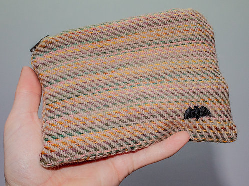 Pink & Yellow Painty Zip Pouch