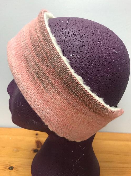 Pink Glastonbury Sunset Painty Winter Headband