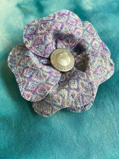 Small Blue & Purple Painty Flower