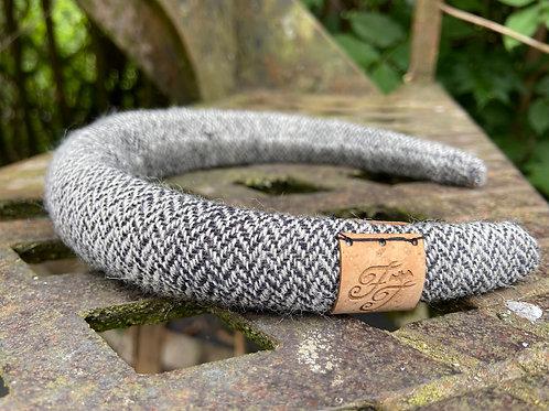 Black & Ivory Herringbone Padded Headband