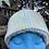 Thumbnail: Blue, Green & Yellow Painty Winter Headband