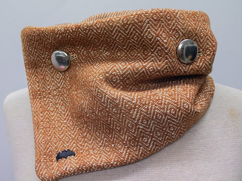Raw Silk & Shetland Wool Reversible Collar