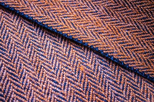 Orange & Navy Herringbone