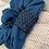 Thumbnail: Navy & Teal Band Scrunchie