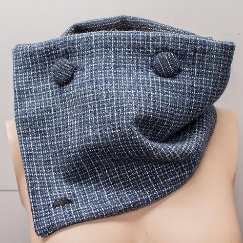 Blue & Grey Reversible Collar