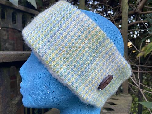 Blue, Green & Yellow Painty Winter Headband