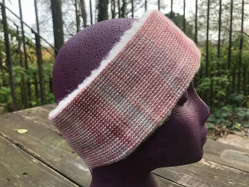 Pink and Blue Painty Winter Headband