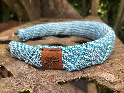 Blue & Green Wrap Headband
