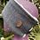 Thumbnail: Blue Grey & Black Herringbone Headwarmer