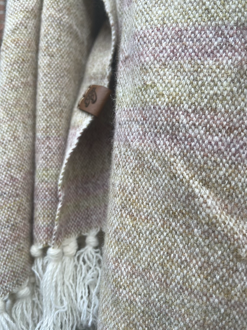 Neutral Painty Lambs Wool Wrap