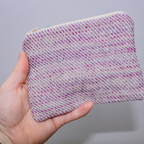 Purple & Pink Painty Zip Pouch
