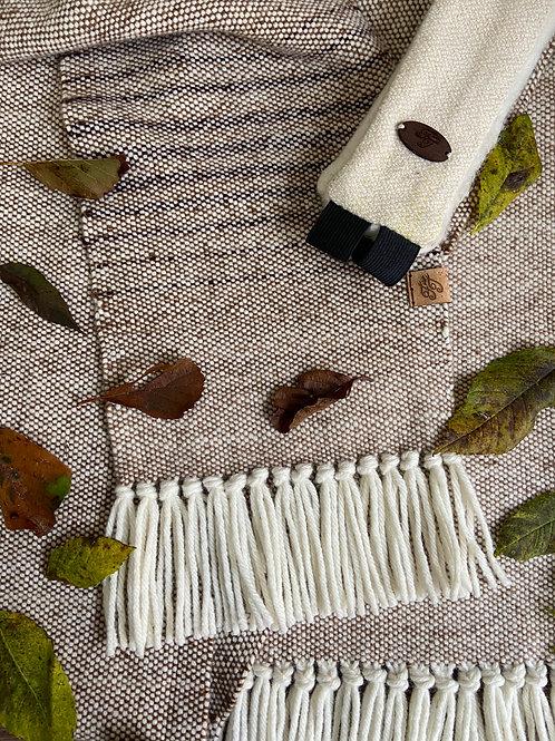 Neutral Toned British Merino & Falklands Wool Scarf