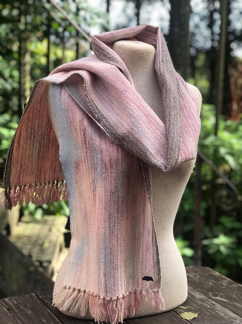 Hand Painted Glastonbury Lambs Wool Scarf - Plain