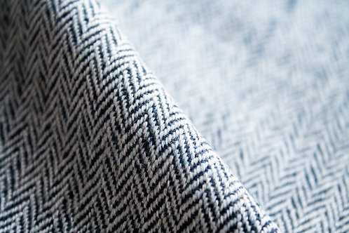 Natural & Navy Herringbone