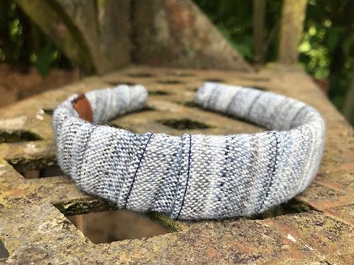 Blue & Grey Painty Wrap Headband
