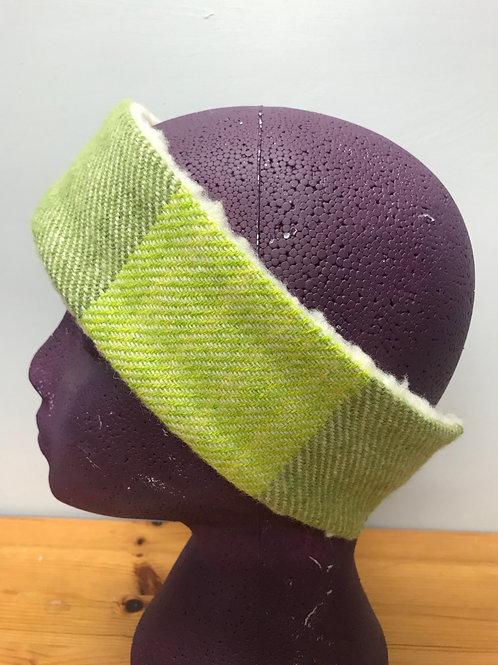 Two Tone Green Winter Headband