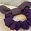 Thumbnail: Purple & Green Herringbone Bow Scrunchie