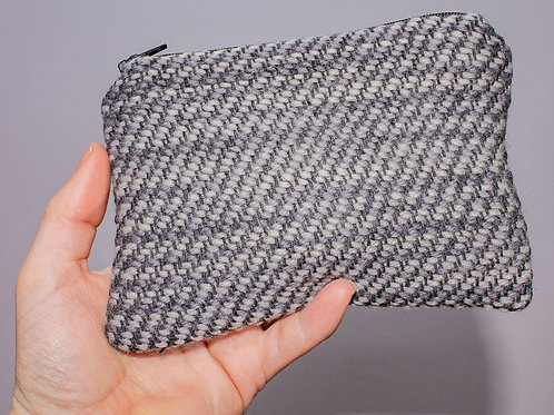 Black & Grey Painty Zip Pouch