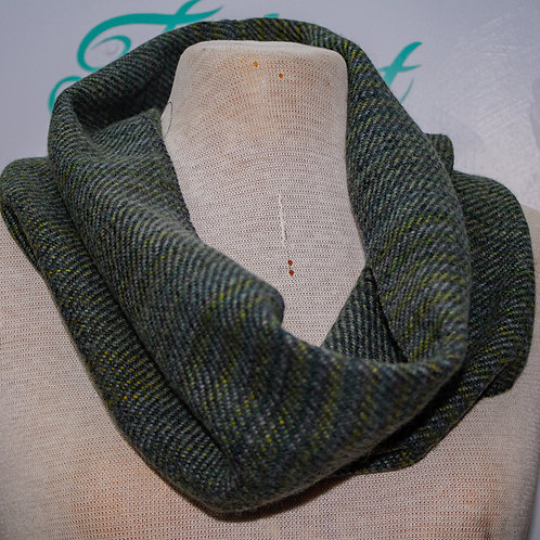 Black & Green Painty Small Snood