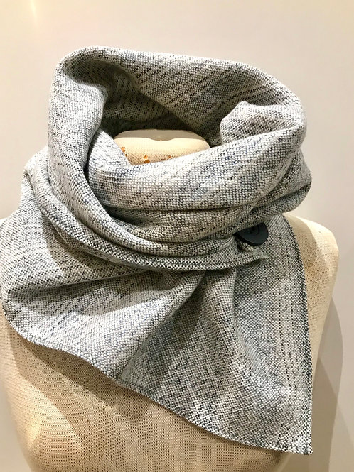 Blue Grey Painty Square Scarf