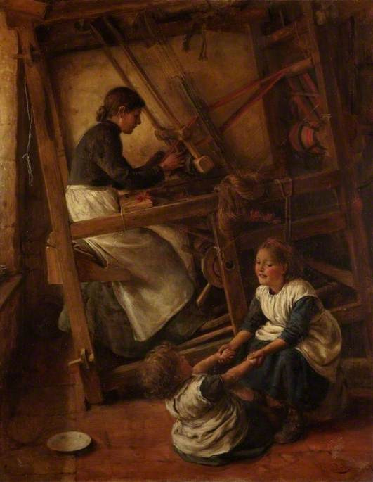 'Weaver at a Loom' 1887